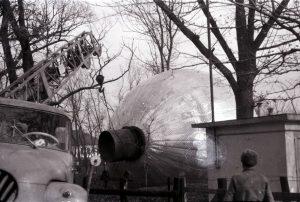 Víztorony állítás Túrkevén 1965-ben